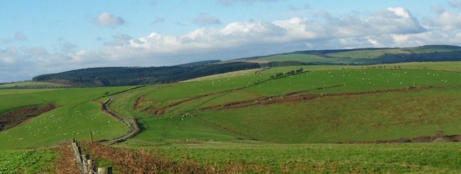 View across Llangynwyd valleys