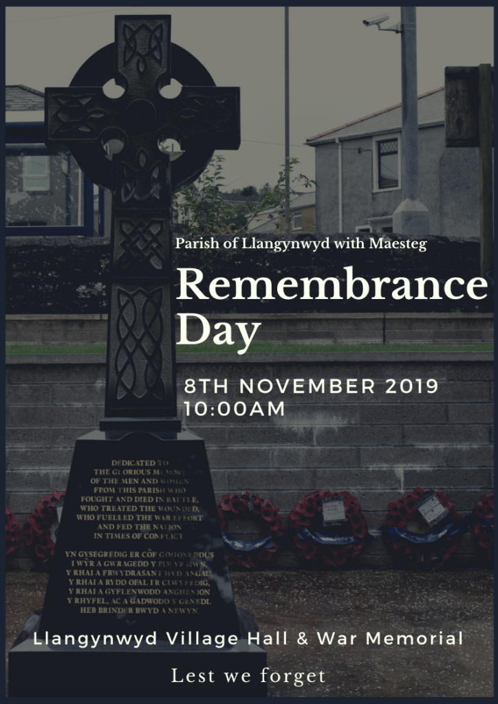 Remembrance Day 08.11.2019 poster