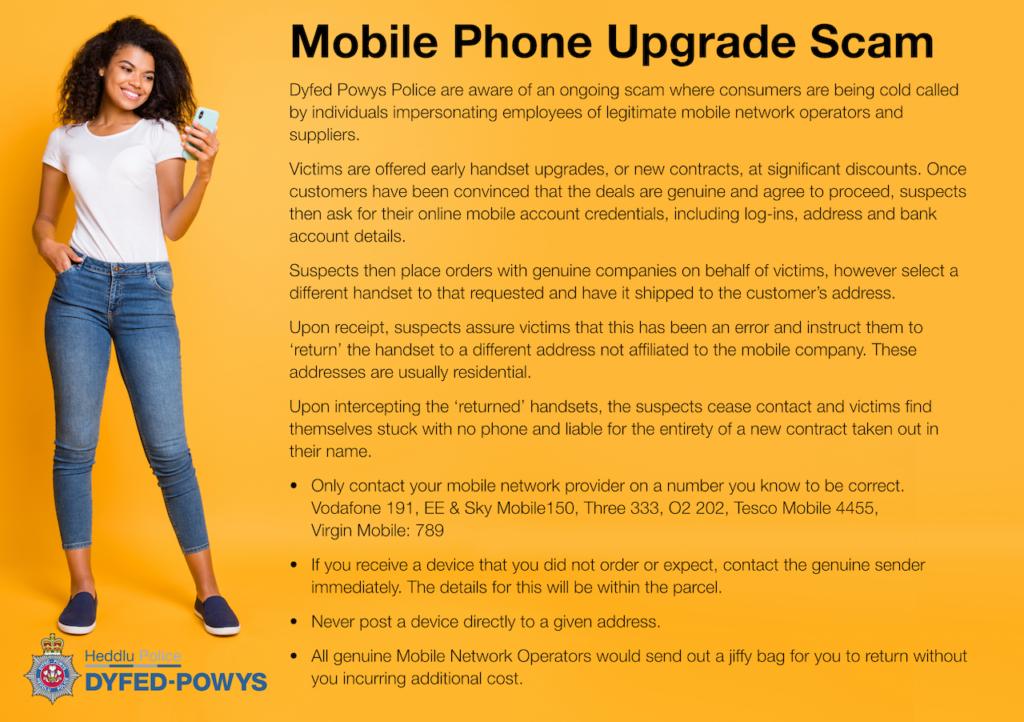 Mobile Phone Upgrade Scam A5 1e